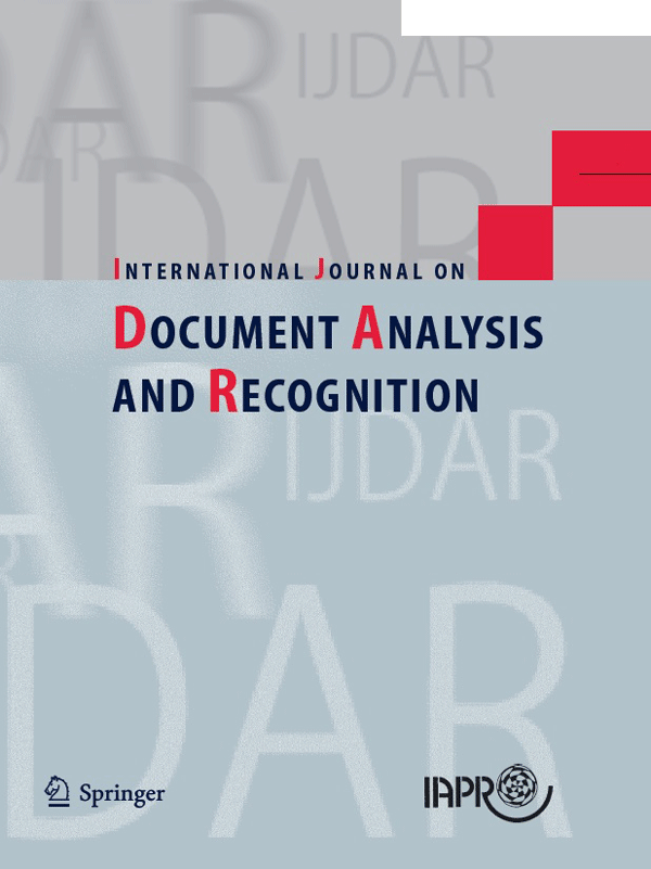 IJDAR cover image